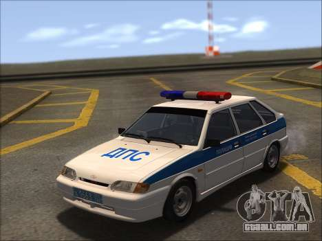 VAZ 2114 Polícia DPS para vista lateral GTA San Andreas