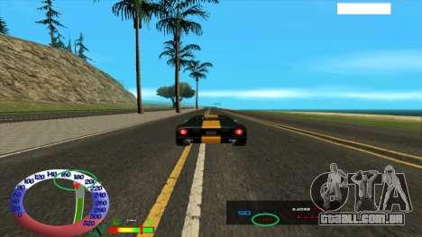 O limite de velocidade para SAMP para GTA San Andreas segunda tela