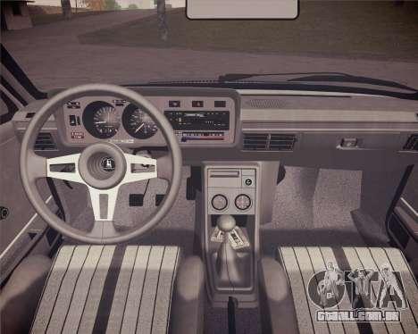 Volkswagen Scirocco S (Typ 53) 1981 HQLM para GTA San Andreas vista traseira