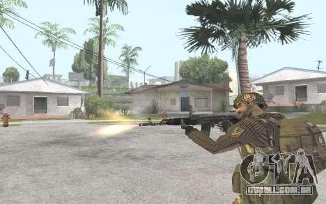 AK-101 para GTA San Andreas por diante tela