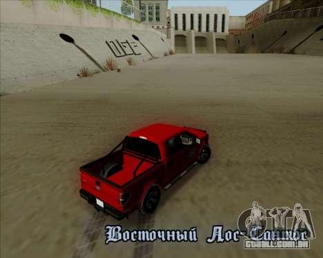 Ford F-150 para vista lateral GTA San Andreas