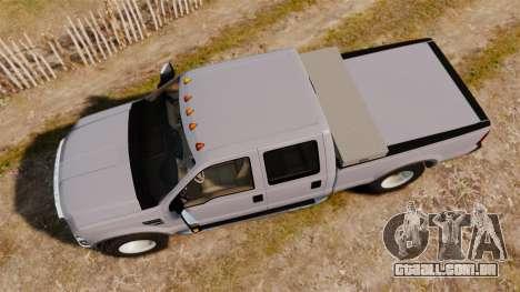 Ford F-250 Super Duty Police Unmarked [ELS] para GTA 4 vista direita