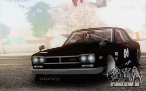 Nissan Skyline 2000 GTR Drift para GTA San Andreas