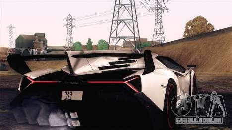 Lamborghini Veneno Roadster LP750-4 2014 para GTA San Andreas vista interior