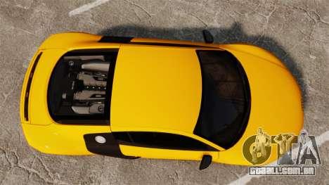 Audi R8 V10 plus Coupe 2014 [EPM] [Update] para GTA 4 vista direita