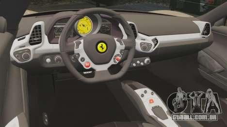 Ferrari 458 Italia 2011 para GTA 4 vista lateral