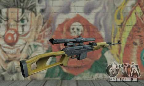 Rifle Sniper para GTA San Andreas segunda tela
