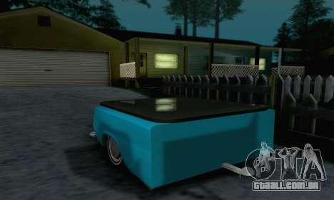 Trailer de Vaz 2102 para GTA San Andreas vista direita