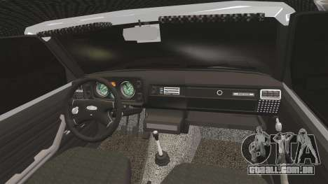 Vaz-2105 para GTA 4 vista interior