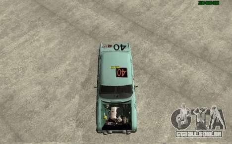 Moskvich 412 Rally para GTA San Andreas traseira esquerda vista