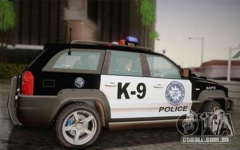 NFS Suv Rhino Heavy - Police car 2004 para GTA San Andreas esquerda vista