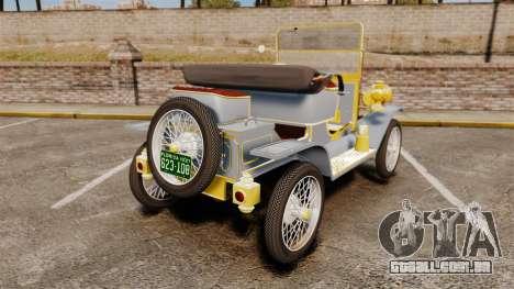 Ford Model T 1910 para GTA 4 traseira esquerda vista