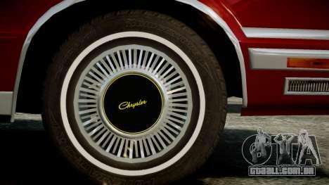 Chrysler New Yorker 1988 para GTA 4 vista direita