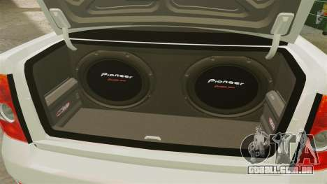 VAZ-2170 Lada Priora Luks para GTA 4 vista de volta