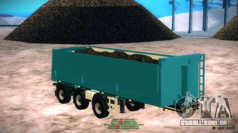 Trailer para Artict2 para GTA San Andreas traseira esquerda vista