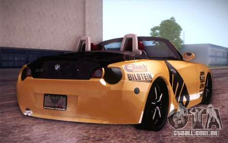 BMW Z4 V10 Stanced para GTA San Andreas traseira esquerda vista