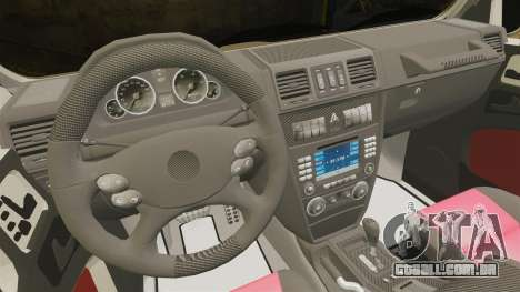 Mercedes-Benz G63 AMG 6x6 para GTA 4 vista interior