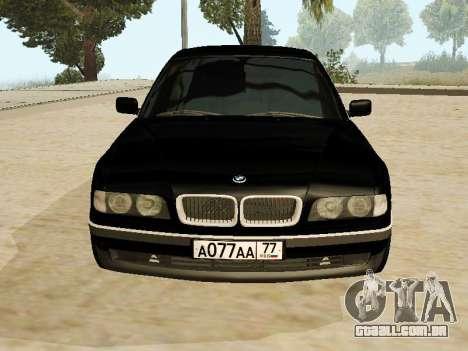 BMW 730 E38 para GTA San Andreas traseira esquerda vista