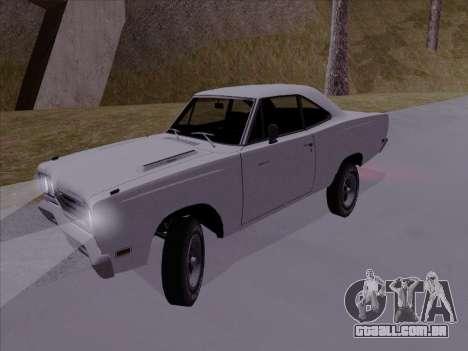 Plymouth Road Runner 383 1969 para GTA San Andreas traseira esquerda vista