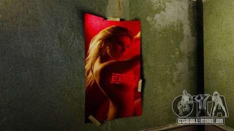 Novos cartazes no apartamento da Novela para GTA 4 segundo screenshot