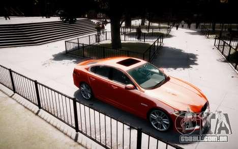 Jaguar XF-R 2012 v1.1 para GTA 4 vista de volta