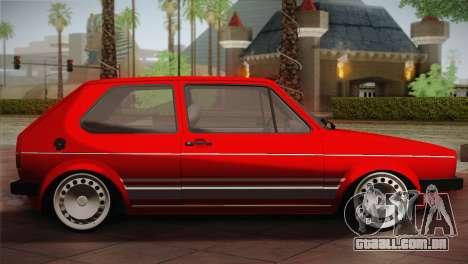 Volkswagen Golf MK1 Red Vintage para GTA San Andreas esquerda vista