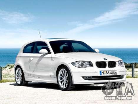 Arranque telas BMW 116i para GTA 4 sétima tela