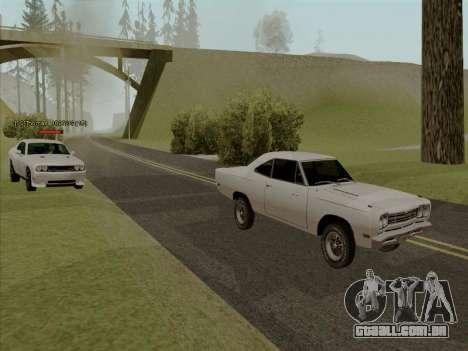Plymouth Road Runner 383 1969 para as rodas de GTA San Andreas