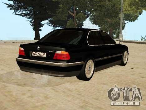 BMW 730 E38 para GTA San Andreas esquerda vista