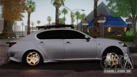 Lexus GS250 F para GTA San Andreas esquerda vista