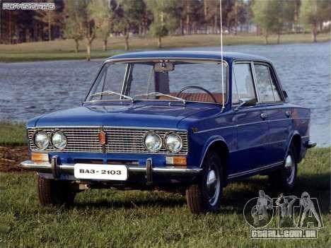 Arranque telas Soviética Carros para GTA San Andreas quinto tela