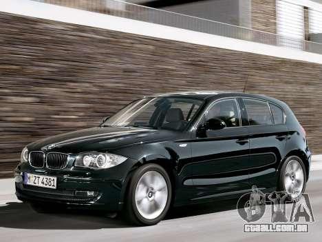 Arranque telas BMW 116i para GTA 4 nono tela