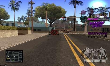 C-HUD Ballas Gang para GTA San Andreas quinto tela