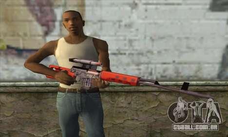 SVD Sniper Rifle para GTA San Andreas terceira tela