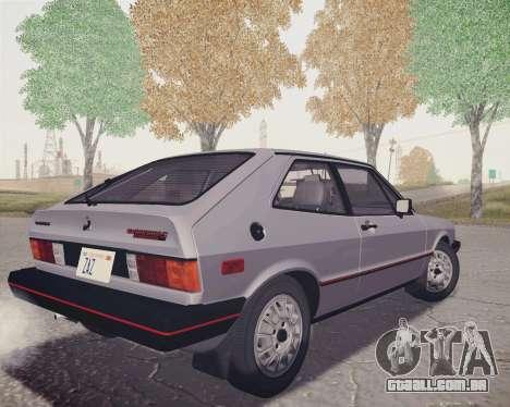 Volkswagen Scirocco S (Typ 53) 1981 HQLM para GTA San Andreas esquerda vista