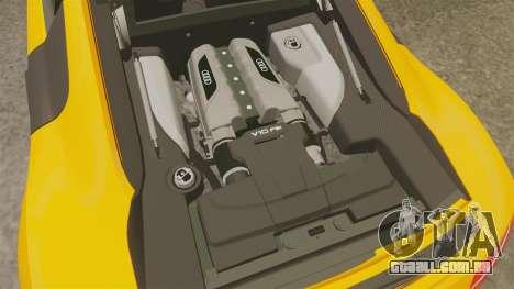 Audi R8 V10 plus Coupe 2014 [EPM] [Update] para GTA 4 vista interior