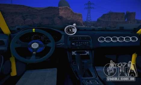 Nissan Silvia S14 para GTA San Andreas vista interior