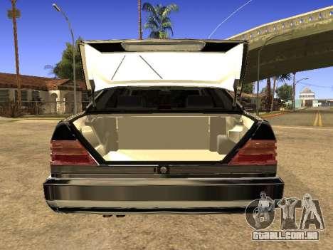 Mercedes-Benz 600SEL para GTA San Andreas traseira esquerda vista