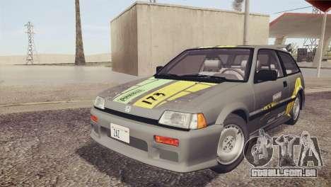 Honda Civic Si 1986 HQLM para GTA San Andreas