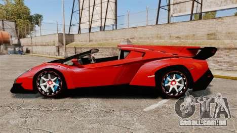 Lamborghini Veneno Roadster LP750-4 2014 para GTA 4 esquerda vista