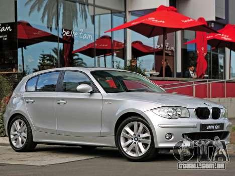 Arranque telas BMW 120i para GTA 4 nono tela