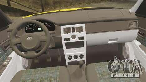 VAZ-Lada 2170 Priora para GTA 4 vista superior
