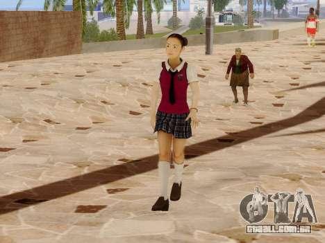 Hanako para GTA San Andreas por diante tela