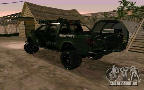 Ford F150 Raptor Unique Edition para GTA San Andreas esquerda vista