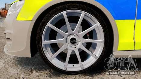 Audi S4 2013 Metropolitan Police [ELS] para GTA 4 vista de volta