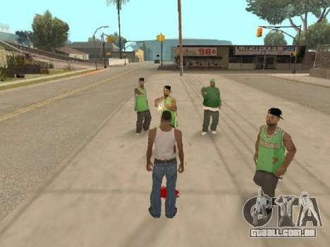 Vá para a gangue dos Ballas para GTA San Andreas terceira tela