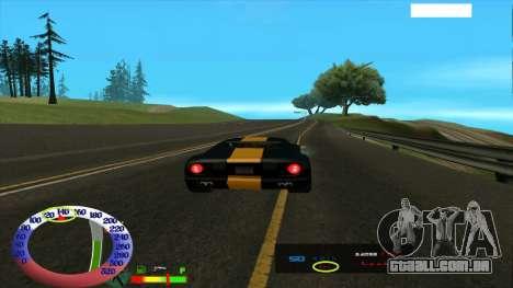 O limite de velocidade para SAMP para GTA San Andreas terceira tela