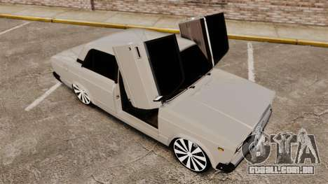 UTILIZANDO-Lada 2107 para GTA 4 vista inferior