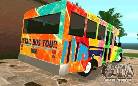 Ford E350 Shuttle Bus para GTA San Andreas traseira esquerda vista