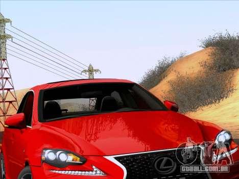 Lexus IS350 2014 F-SPORT para GTA San Andreas vista traseira